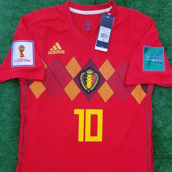 ebf54de1d07 2018 Belgium soccer jersey Hazard